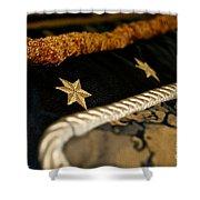 Three Stars Shower Curtain