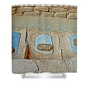 Three Stones For Grinding Corn In Spruce Tree House In Mesa Verde National Park-colorado Shower Curtain