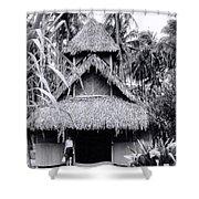 Three Story Hut Shower Curtain