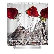 Three Strawberries Freshsplash Shower Curtain