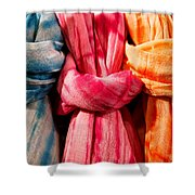 Three Tie-dye Knots Shower Curtain