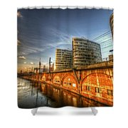Three Towers Berlin Shower Curtain by Nathan Wright
