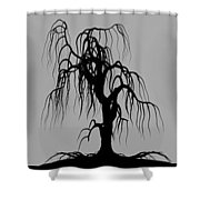 Three Trees Shower Curtain