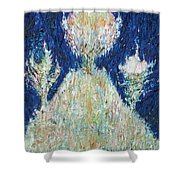 Three Trees On The Hilltop Shower Curtain