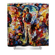 Three Umbrellas Shower Curtain