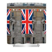 Three Union Jack Flags Shower Curtain