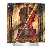 Three Violins Shower Curtain by Bob Orsillo