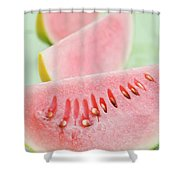 Three Wedges Of Watermelon Shower Curtain