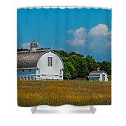 Three White Barns Shower Curtain