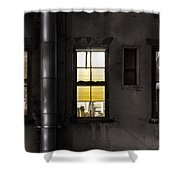 Three Windows And Pipe - The Story Behind The Windows Shower Curtain by Gary Heller