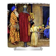 Three Wise Men Bearing Gifts Shower Curtain