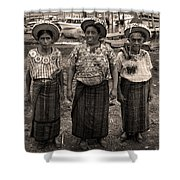 Three Women In Atitlan Shower Curtain