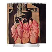 Three Women On The Street Of Baghdad Shower Curtain