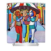 Threes A Crowd By Anthony Falbo                                          Shower Curtain by Anthony Falbo