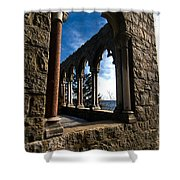 Through Castle Walls Shower Curtain