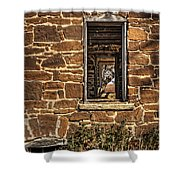 Through Doors And Windows - Abandoned House Shower Curtain