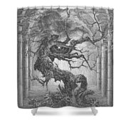 Through The Chimeras - To The Skies Shower Curtain