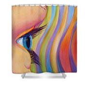 Through The Eyes Of A Child Shower Curtain by Sandi Whetzel