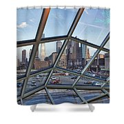 Through The Glass At Philly Shower Curtain