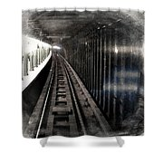 Through The Last Subway Car Window 3 Shower Curtain