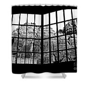 Through The Monastery Window Shower Curtain
