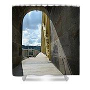 Through The Portal Shower Curtain