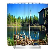 Through The Reeds At Grace Lake Shower Curtain