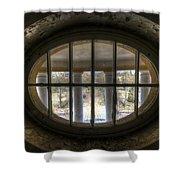 Through The Round Window Shower Curtain
