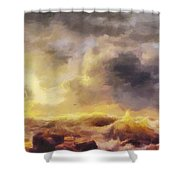 Through The Storm Shower Curtain