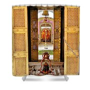 Through The Temple Doors India Shower Curtain
