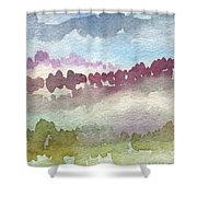 Through The Trees Shower Curtain by Linda Woods