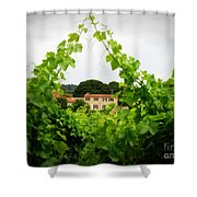 Through The Vines Shower Curtain by Lainie Wrightson