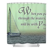 Through The Waters Shower Curtain