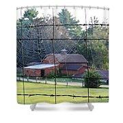 Through The Webs Shower Curtain