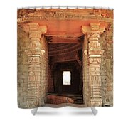 When Windows Become Art - Jain Temple - Amarkantak India Shower Curtain