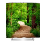 Through The Woods Shower Curtain