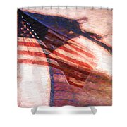 Through War And Peace Shower Curtain