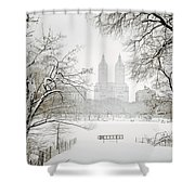 Through Winter Trees - Central Park - New York City Shower Curtain