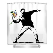 Throwing Love Shower Curtain