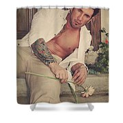 Thrown Out Shower Curtain by Laurie Search