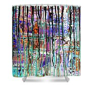 Thru The Storm 1 Digital Series Shower Curtain