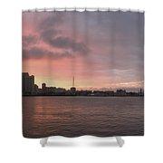 Ths City Sunset Shower Curtain