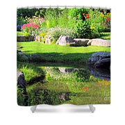 Thula Garden's Water Reflections Shower Curtain