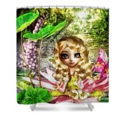 Thumbelina Shower Curtain by Mo T
