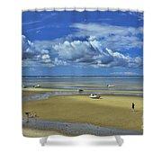 Thumpertown Beach Lowtide Shower Curtain