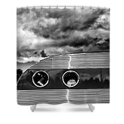 Thunder And Lightning Palm Springs Shower Curtain