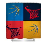 Thunder Ball And Hoop Shower Curtain