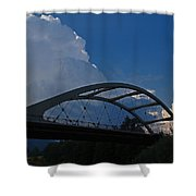 Thunder Over The Rogue River Bridge Shower Curtain