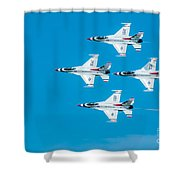 Thunderbird In Formation  Shower Curtain