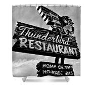 Thunderbird Utah Black And White Shower Curtain